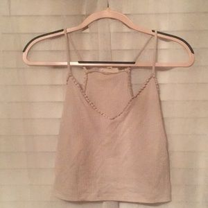 Tan crop top from pacsun.